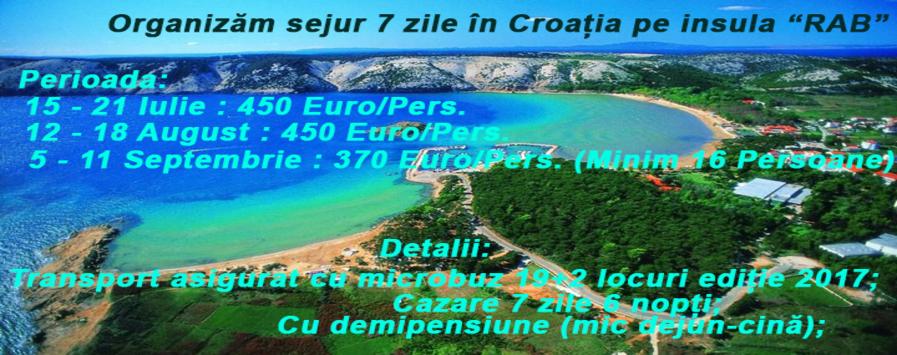 Sejur in Croatia pe insula RAB